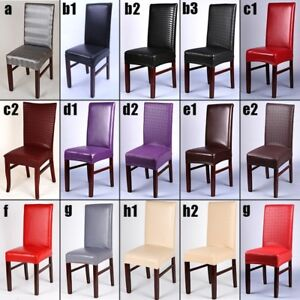 1-4pcs-Home-Chair-Cover-PU-Leather-Kitchen-Bar-Hotel-Restaurant-Party-Decoration