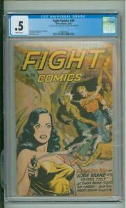 Fight Comics #39 CGC .5 Matt Baker Art 1945