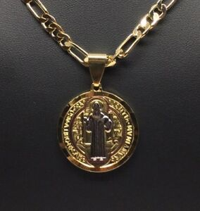 946a1dc0e5ae Image is loading San-Benito-Tres-Colores-Medalla-Pendant-Necklace-Cadena-