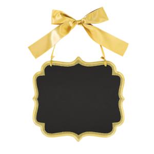 Nouveau Fête De Mariage Large Gold Glitter MARQUEE tableau MDF SIGNE 25 cm x 23 cm
