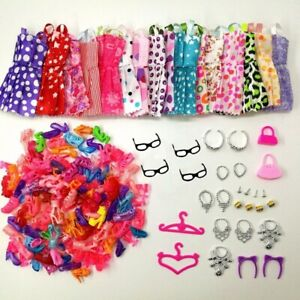 Doll-Accessories-Clothes-Shoes-Necklace-Glasses-For-Barbie-Doll-Gift-40-Item-Set