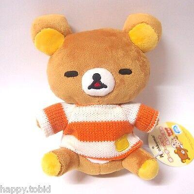 San-X Sleeping Rilakkuma Plush in Strawberry Bag Japan Amusement Game Doll