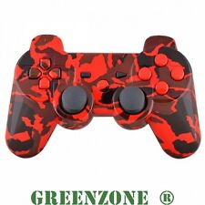 Replacement PS3 Red Camouflage Controller Shell Mod Kit + Matching Buttons Kit