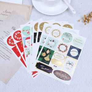 2Pcd-Christmas-Sticker-Labels-Adhesive-Gift-Tags-Wrap-Tags-Labels-For-Present-JT