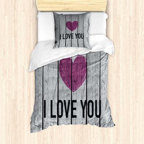 Ich Liebe Dich Bettwäsche Set Holzbohlen RustikalWeicher Microfaserstoff