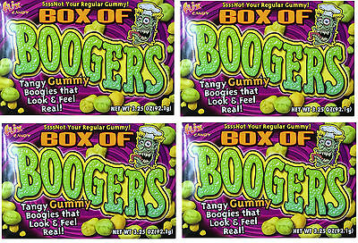 Case Lot Bulk Tangy Gummy Chewy Fruity Boogies Boogers - 3.25 (Pack of 4)