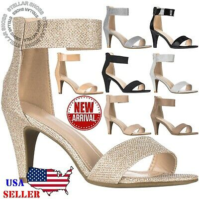 latest selection of 2019 speical offer search for genuine NEW Women Ankle Strap Open Toe Comfortable High Heels Dress Party Heeled  Sandals | eBay
