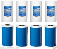 """8 Big Blue Water Filters GAC Carbon & Sediment 4.5"""" x 10"""" Whole House Cartridges"""