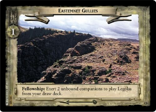 LOTR TCG Eastemnet Gullies 4U325 The Two Towers Lord of the Rings MINT FOIL