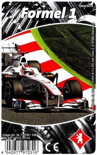 Quartett Rennwagen NEU * Formel 1 Berliner Spielkarten Motorsport