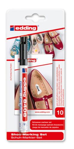 20 Schuhetiketten edding 8408 Schuhmarkier-Set inkl