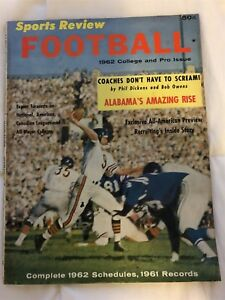 1962-Football-CHICAGO-BEARS-Bill-WADE-College-Pro-AFL-NFL-CFL-Preview-ALABAMA