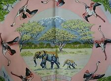 NIB Beautiful HERMES Tanzanie scarf 100% SILK FRANCE carre Robert Dallet pink