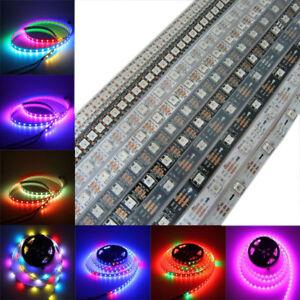 5V-Addressable-WS2812B-WS2812-5050-RGB-LED-strip-30-60-144-Led-M-Rope-Light