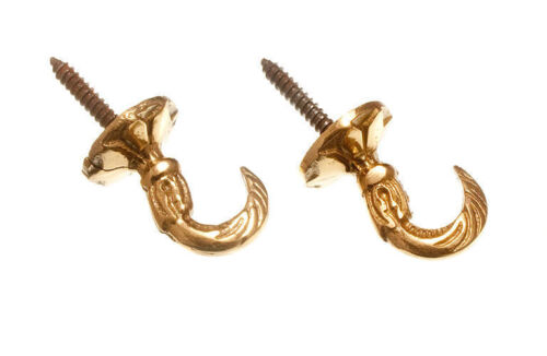 NEW Pack of 200 - Curtain Tie Hold Back Brass Screw In Backplate 25Mm Protrude 4