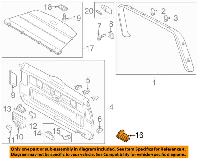 VW VOLKSWAGEN OEM Touareg Liftgate Tail Tailgate Trunk-Switch 7L6959520B20H