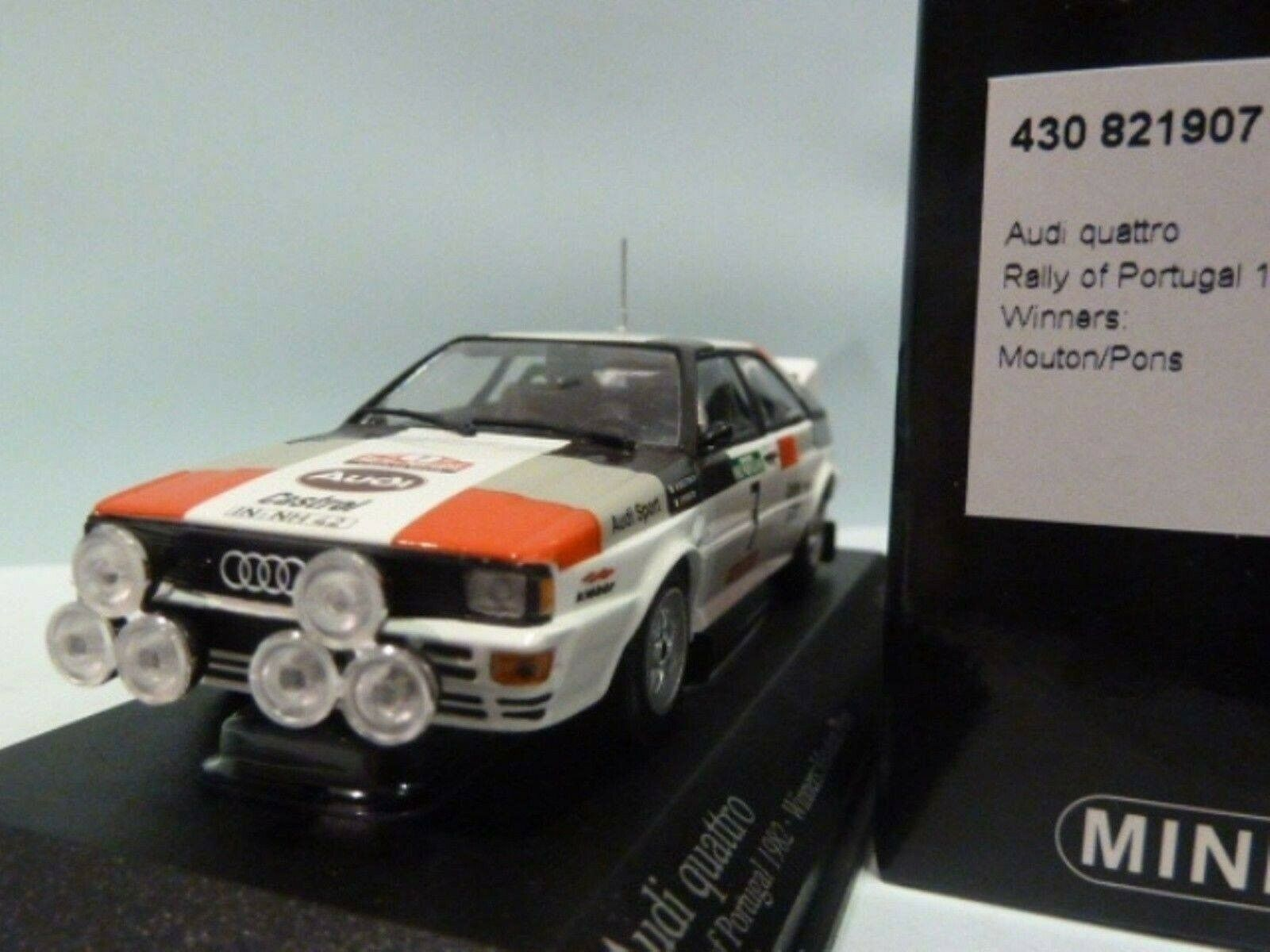 WOW EXTREMELY RARE Audi Quattro B2A Mouton 1st Portugal 1982 1 43 Minichamps