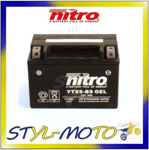 YTX9-BS/_GEL BATTERIA BATTERY NITRO AGM GEL HONDA NTV 650 REVERE 1988