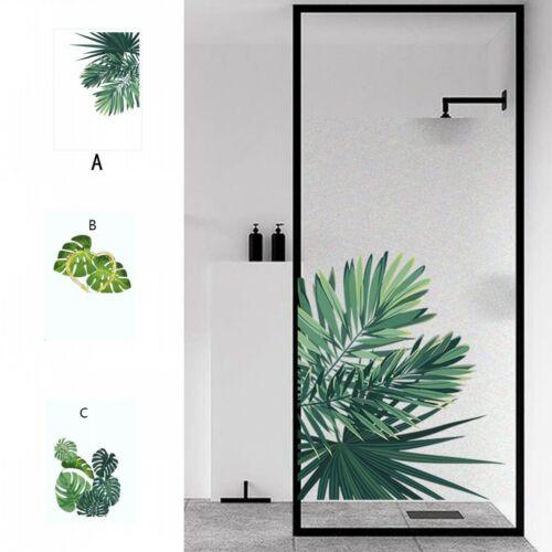 PVC Glass Decorative Window Film Static Cling Shower Door Privacy Decor Plant