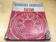 Werkstatthandbuch CB 500 (1973)