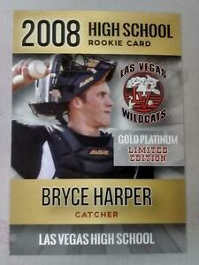2-BRYCE-HARPERS-VERY-FIRST-EVER-HIGH-SCHOOL-GOLD-PLATINUM-ROOKIE-CARD-PHILLIES