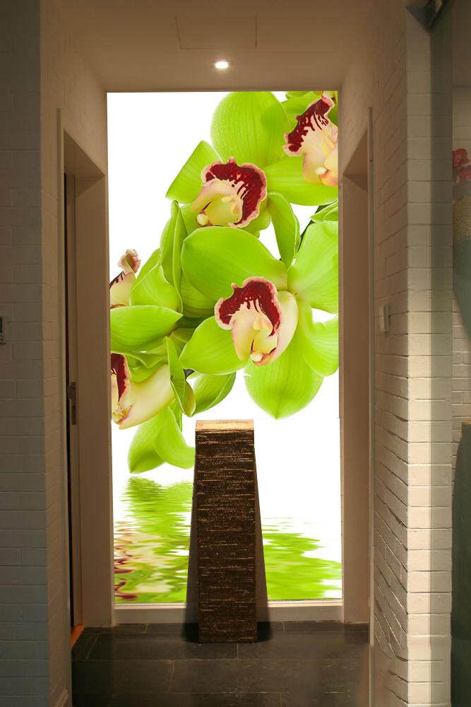 3D Green Leaf Water 8 Wallpaper Mural Paper Wall Print Wallpaper Murals UK Lemon