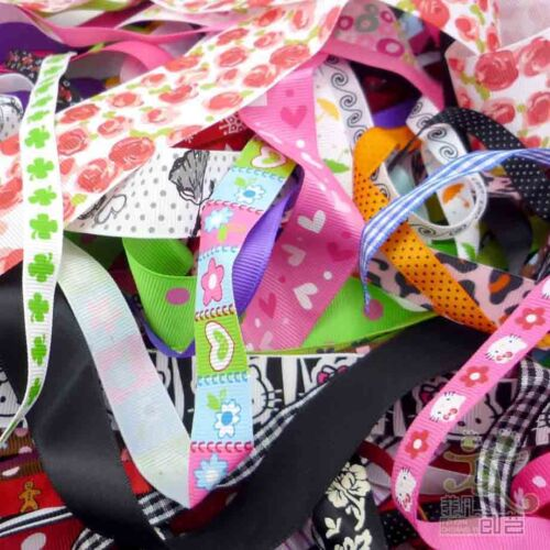 Assorted Satin Grosgrain Ribbon Craft Sewing 10//25X1Yards Off Cuts Bundle Smart