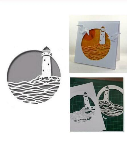 Metal Cutting Craft Dies Background Scrapbooking Making Sea Lighthouse Die DIY