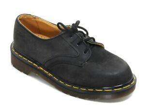 196 Chaussures pour Enfants Noir Cuir Dr.Martens Airwair Angleterre à Lacets 34
