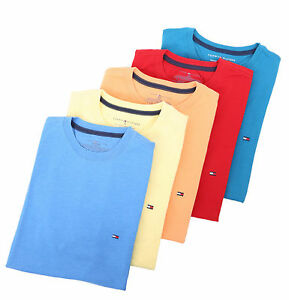 Tommy-Hilfiger-Men-Classic-Fit-Short-Sleeve-Crew-Neck-Tee-T-Shirt-0-Free-Ship