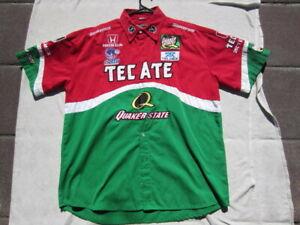 Adrian-Fernandez-Crew-Shirt-speedgear-Racing-Shirt-Tecate-Quaker-State-Size-XL