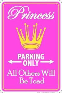 PRINCESS-PARKING-ONLY-No-Trespassing-8x12-metal-sign