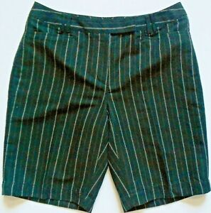 Lizgolf Audra Womens Golf Shorts Pinstriped Black Size 10