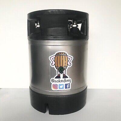Brand New 19L Ball Lock Cornelius Beer Keg Stainless Steel
