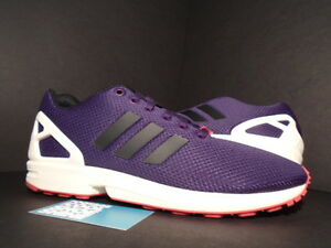 Royaume-Uni disponibilité 76dd5 f5502 Details about ADIDAS ZX FLUX 250 CONSORTIUM VIOLET PURPLE BLACK WHITE RED  BOOST B35132 10.5