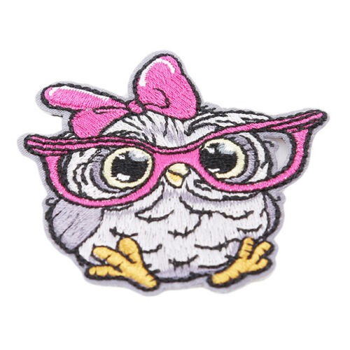 Patches For Clothing Bird Owl Applique Badge Jeans Shirt Iron on Patch DIY G