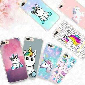 release date 191e4 321c2 Details about Pattern Soft Silicone TPU Clear Unicorn Case Cover For iPhone  8 7 6 Plus Huawei