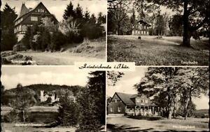 Friedrichroda-Thueringen-DDR-Mehrbildkarte-1962-Tanzbuche-Heuberghaus-Schloss-u-a