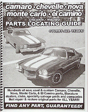 Find any Camaro Part with this book 1967 1968 1969 1970 1971 1972 includes RS SS