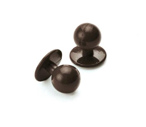 Set di 10 BOTTONI Professionali di Ricambio per Giacca Cuoco Chef cacao POSTA