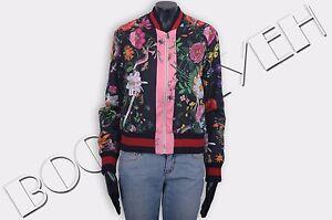29674c24cc7 GUCCI 2900$ Authentic New Flora Snake Print Silk Bomber Jacket ...