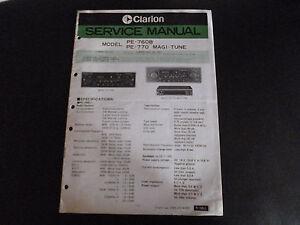 Liefern Clarion Original Service Manual F Pe 760 A Tv, Video & Audio