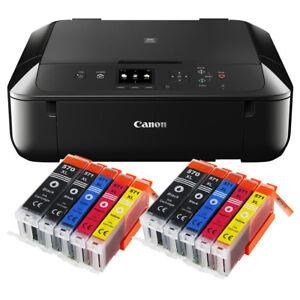 Canon-Pixma-MG-5750-Multifunktionsgeraet-DRUCKER-SCANNER-KOPIERER-10x-XL-Tinte