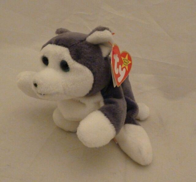 Nanook Retired 1996 Ty Beanie Babie 8in Husky Dog 3up Boys Girls 4104 for sale online