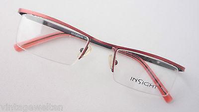 Contemplativo Insight Leggeri Travi Occhiali Montatura In Metallo Versione Occhiali Sottile Rosso Misura M-mostra Il Titolo Originale