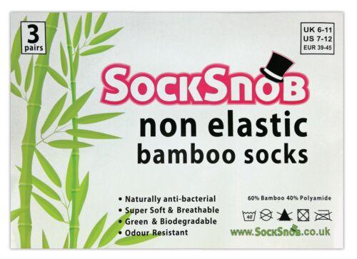 3er pack herren ohne gummi komfortbund anti schweiß antibakteriell bambussocken