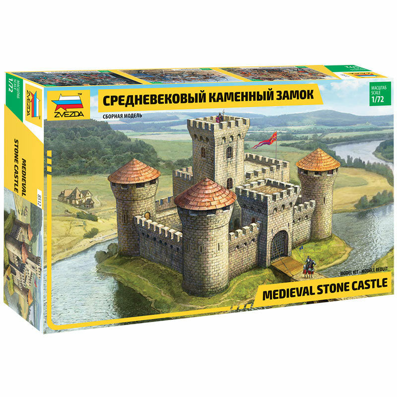 ZVEZDA Medieval Stone Castle 1 72 - Model Kit Z8512
