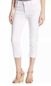 CALVIN-KLEIN-Boyfriend-Capri-Cropped-Jeans-Womens-Size-26-White-MSRP-69-50