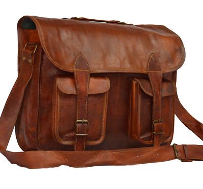 Handmade Cross-body Bag Retro Metropolitan Fashion Men/'s Leather Bag Leather Messenger Bag Rustic Briefcase Leather Briefcase 15