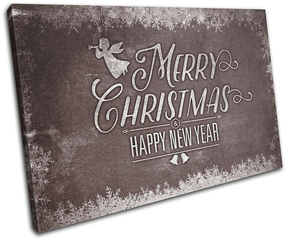 Christmas Decoration Wall Canvas ART Gift Print XMAS Picture Gift ART Chalk 09 Brown Chri 27dae9
